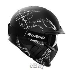Ruroc Rg1-dx Chainbreaker Farbe Noir Taille S (52-56cm) Season19 / 20