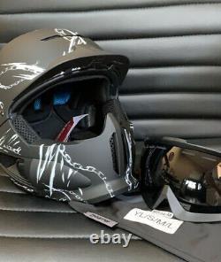 Ruroc Rg1-dx Chainbreaker Ski Snowboard Helmet M/l (57-59cm) Saison Noire 19/20