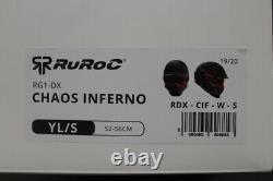 Ruroc Rg1-dx Chaos Inferno Casque De Sports De Neige 2019/20 Version, Taille Yl/s