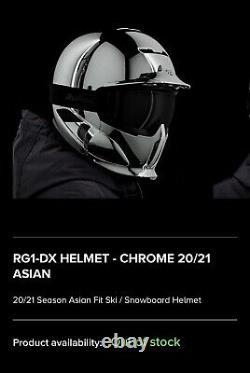Ruroc Rg1-dx Chrome Asian-fit Xl/xxl Avec Shockpods Et Maglens De Transition