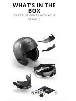 Ruroc Rg1-dx Core Casque Ski / Snowboard, Taille M / L, Noir Mat, Version 2018/19