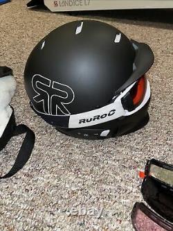 Ruroc Rg1-dx Core Ski Snowboard Casque Et Lunettes Taille Xl/xxl Avecshockpods &more