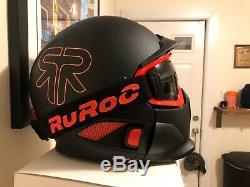 Ruroc Rg1-dx Couleur Noir Nova Taille M / L (57cm 59cm)