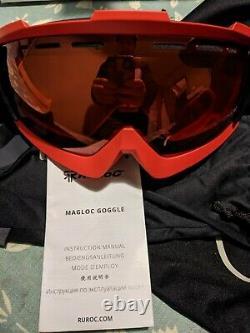 Ruroc Rg1-dx Inferno (2019) Casque Et Lunettes, Snowboard Ski Sports D'hiver