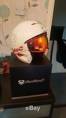 Ruroc Rg1-dx Inferno Casque Sport Avec Des Lunettes Blanches