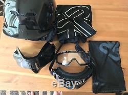 Ruroc Rg1-dx Onyx XL (61cm) Casque Intégral Snowboard / Esk8 / Boosted Board