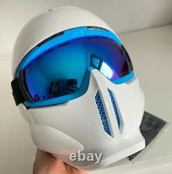Ruroc Rg1-x Hommes Casque Intégral + Lunettes Ski Snowboard Snow White M / L Rrp £ 230