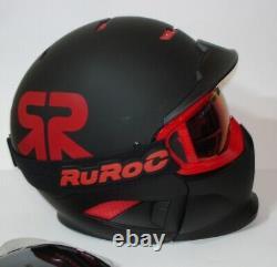 Ruroc Snowboard Ski Helm Rg1-dx Schwarz Rot Größe M / L