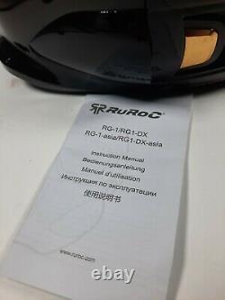 Ruroc Titan En Or Noir Rg1-dx M/l Casque Googles Boîte Originale T.n.-o. Avec Étiquettes
