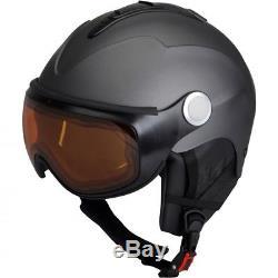 Ski Helm Skihelm Avec Visière (selbst Tönend) Mivida Rewind V Titan Matt # 0954