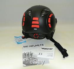 Skihelm Alpina Erwachsene Jump 2.0 Qvmm Größe59-61, Noir / Rouge Mat (ta500)