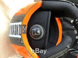 Skihelm Mit Brille, Kask, Orange, Gr. M 57-58 Top