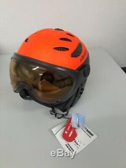 Skihelm, Snowboardhelm, Slokker Balo / Visor Orange, Art. 07912, Gr. 55-57
