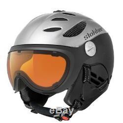Slokker Balo Casque Visier Skihelm Snowboardhelm Noir-argent A.