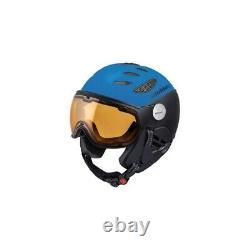 Slokker Balo Farbe Blue Black Größe M (58 60 Cm) Skihelm Mit Visor