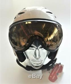 Slokker Balo Helm Ski / Snowboardhelm 60-62 CM Weiß Neu # 378