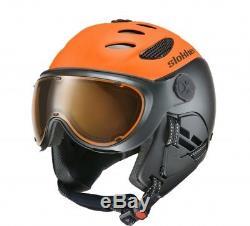 Slokker Skihelm Balo Visière Neon-orange Skihelm Snowboardhelm Visier Tourenhelm