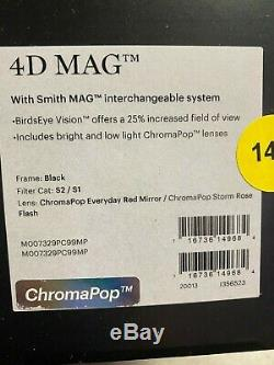 Smith Optics 4d Mag Adulte Motoneige Lunettes De Tous Les Jours Red Storm Rose Flash
