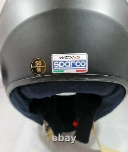 Sparco Wtx-5h Casque Matt Noir (hans) Taille Moyenne (57cm-59cm) P&p Gratuit