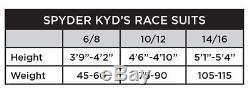 Spyder Garçons Performance Gs Race Suit Polar Volcano Blanc Enfants 6-8 (3'9-4'2)