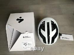 Sweet Protection Falconer II Helmet Blanc Mat Avec M Noir Taille Brillant, Rrp 200