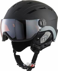 Tecnopro Casque De Ski Erwachsenen Skihelm Mit Visier Titan Photochromique Noir