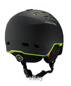 Tête Radar Noir / Lime Skihelm Neu 2019/2020 Saison