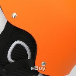 Ultraléger Ski Snowboard Casque Hommes Femmes Enfants Avec Amovible Coquilles Orange