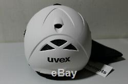 Uvex Hlmt 300 Pare-soleil, Skihelm, Gr. 55-58cm, Weiß Matt (p376-r28)