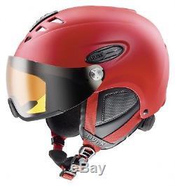 Uvex Hlmt 300 Skihelm Visière Casque De Snowboard Skifahren Wintersport Rouge Mat