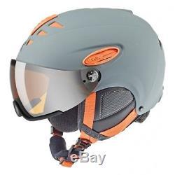 Uvex Hlmt 300 Visior Gris Orange Skihaut Mit Mitier Hartschalenhelm 53-56 CM