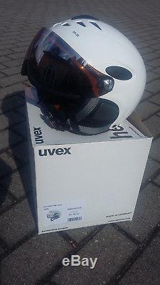 Uvex Skihelm Hlmt 300 Visier Weiss 55-58 CM